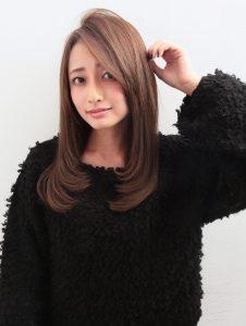 ロングヘア セミロング 艶髪