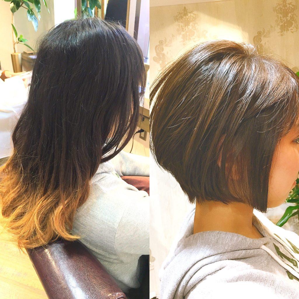 バッサリ 扱いやすい髪型